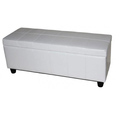 banquette coffre de rangement blanc pour coffres de. Black Bedroom Furniture Sets. Home Design Ideas