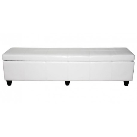 banquette coffre de rangement blanc 180 cm pour coffres de. Black Bedroom Furniture Sets. Home Design Ideas