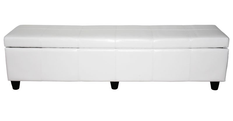banquette coffre de rangement blanc 180 cm pour coffres de rangemen. Black Bedroom Furniture Sets. Home Design Ideas