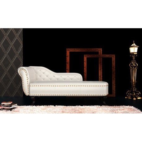 canap m ridienne chesterfield capitonn blanc cr me pas. Black Bedroom Furniture Sets. Home Design Ideas