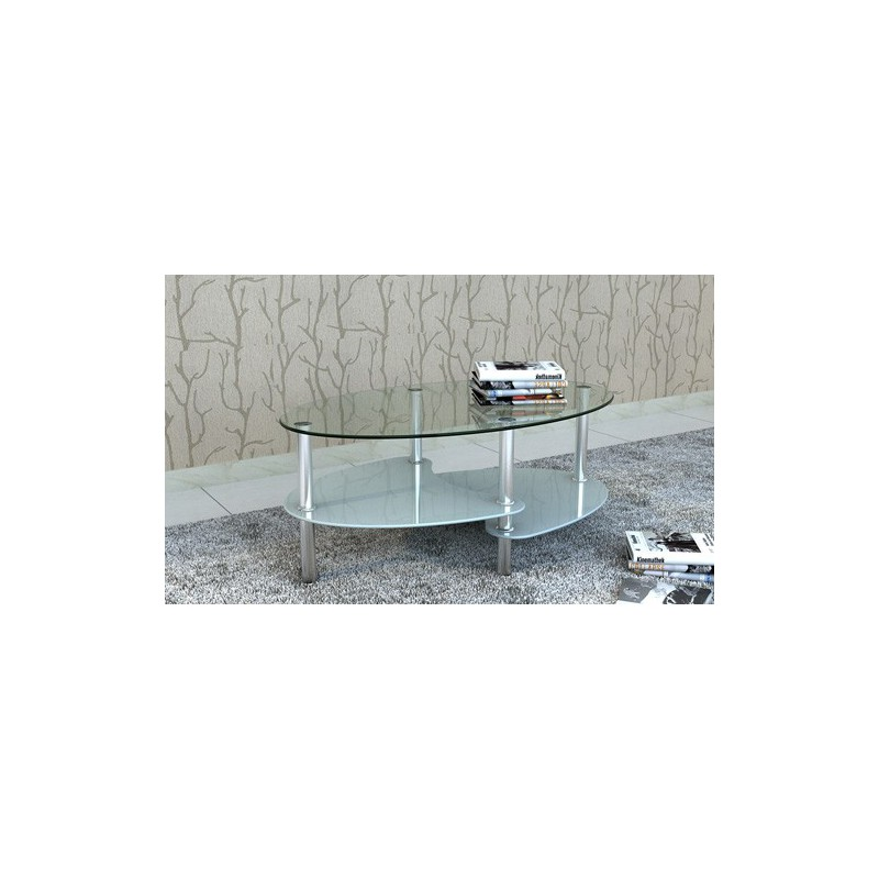 table de salon table basse ovale blanche en verre pour tables bas. Black Bedroom Furniture Sets. Home Design Ideas
