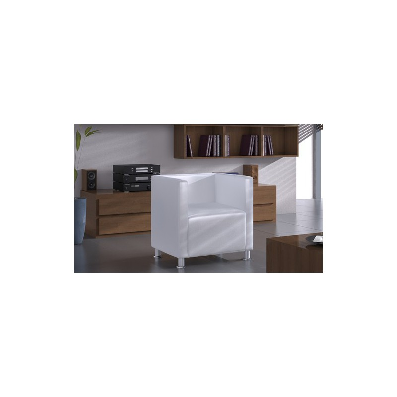 fauteuil design club blanc pour fauteuil club a 141 12. Black Bedroom Furniture Sets. Home Design Ideas