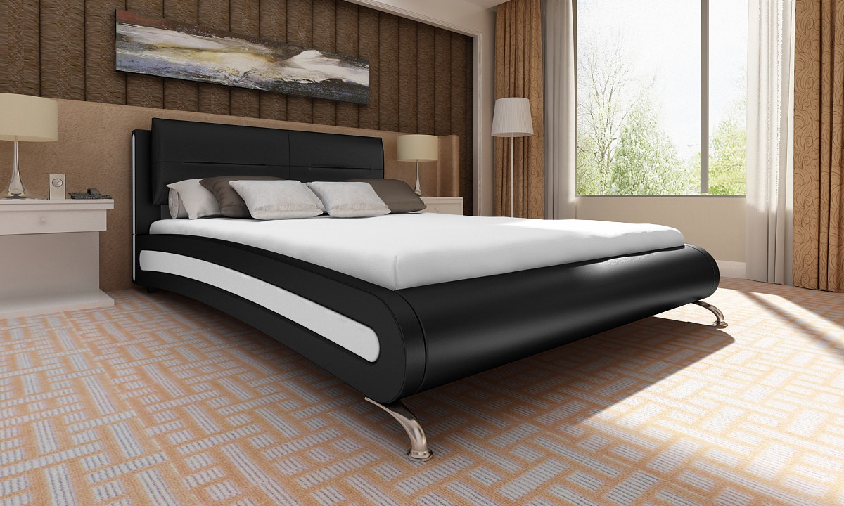 lit design 180x200 cm noir pour lits a 505 01. Black Bedroom Furniture Sets. Home Design Ideas
