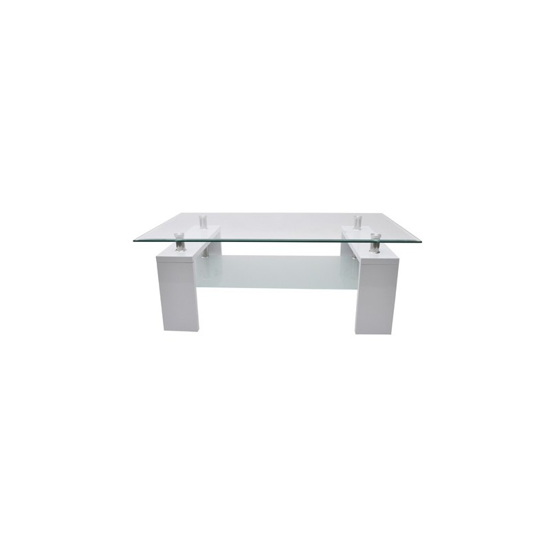 table basse rectangulaire blanche pour tables basses a 106 50. Black Bedroom Furniture Sets. Home Design Ideas