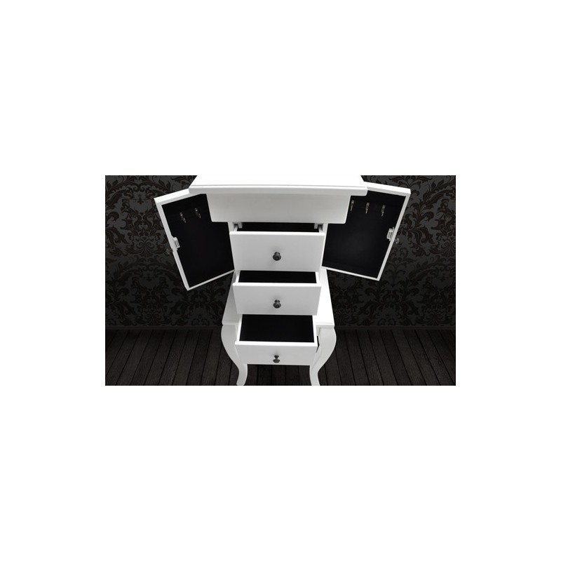 commode coiffeuse coffre bijoux blanc. Black Bedroom Furniture Sets. Home Design Ideas
