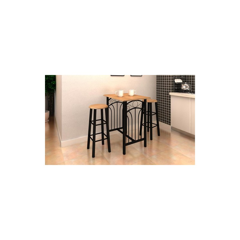 table avec 2 tabourets pour chaises a 154 43. Black Bedroom Furniture Sets. Home Design Ideas