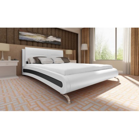 lit design bicolore 140 x 200 cm avec matelas pour lits avec matela. Black Bedroom Furniture Sets. Home Design Ideas