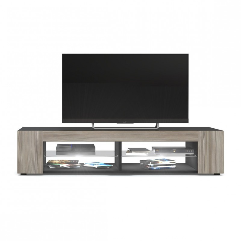 meuble tv noir mat fa ades en avola champagne led blanc pour meuble. Black Bedroom Furniture Sets. Home Design Ideas