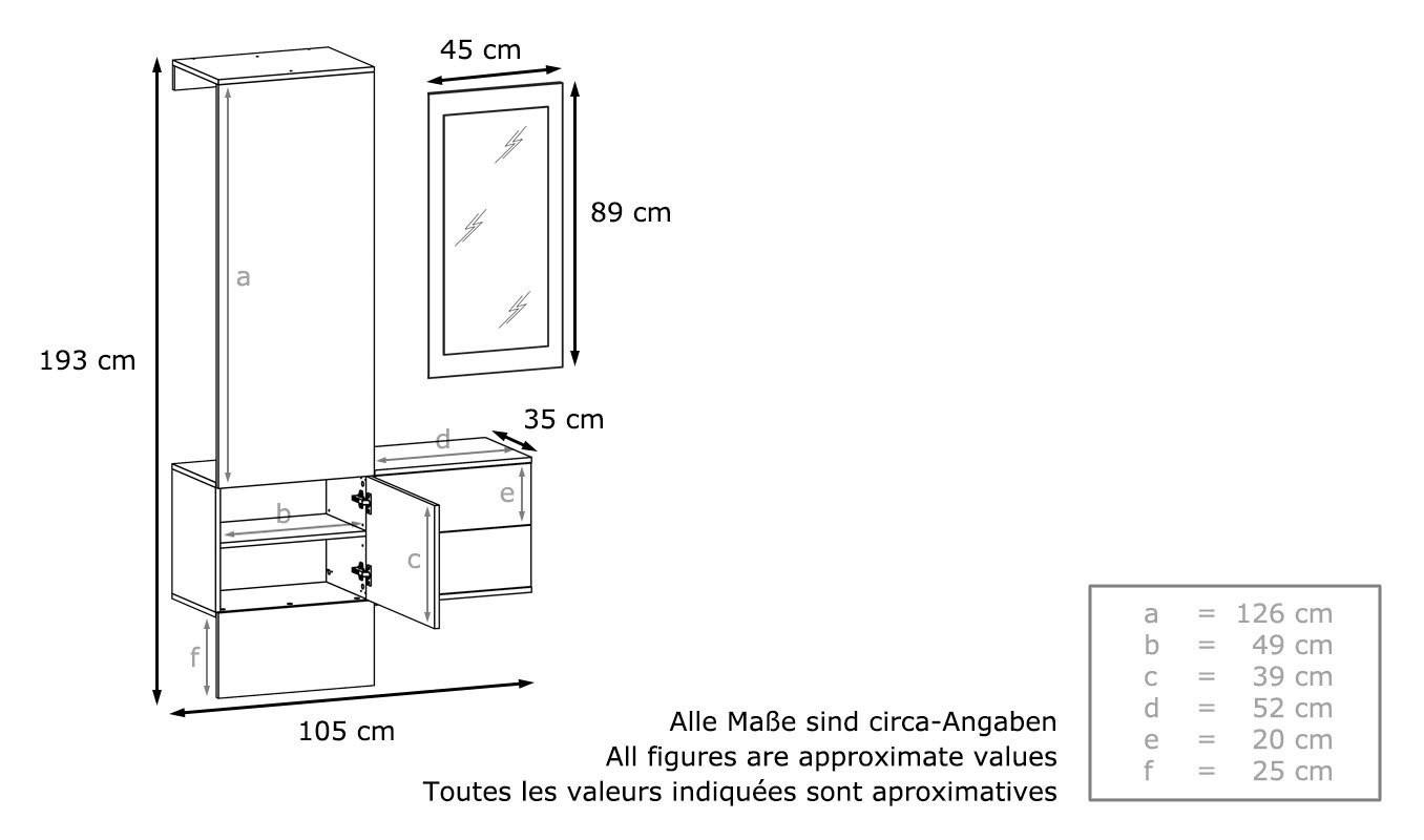 vestiaire blanc mat et panneau gris laqu pour meubles d. Black Bedroom Furniture Sets. Home Design Ideas
