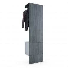 Porte manteaux blanc mat et Avola-Anthracite
