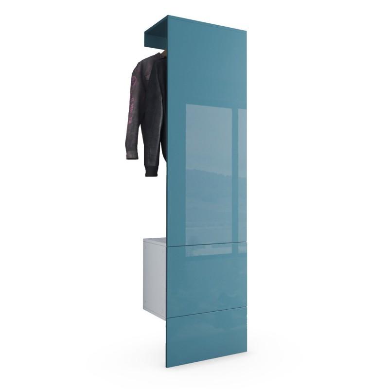 porte manteaux blanc mat et turquoise haute brillance pour meubles. Black Bedroom Furniture Sets. Home Design Ideas