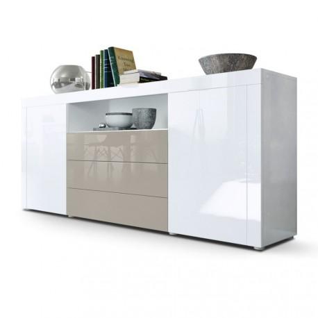 Buffet laqué blanc / Gris sable 167 cm pour Buffets design a 499,00 €