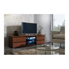 Meuble tv blanc avec led 120 cm
