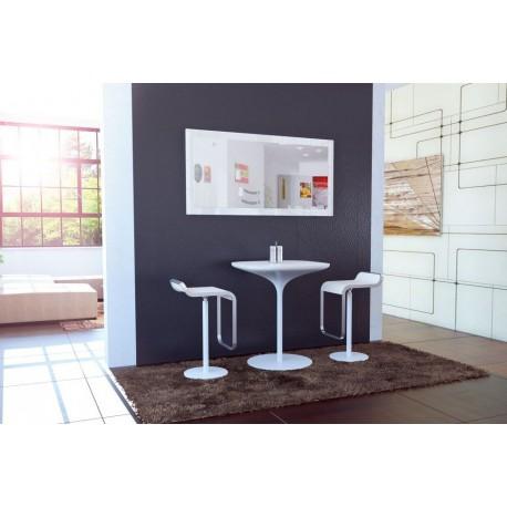 Miroir laqu blanc 110 cm pas cher meubles discount en for Miroir laque blanc