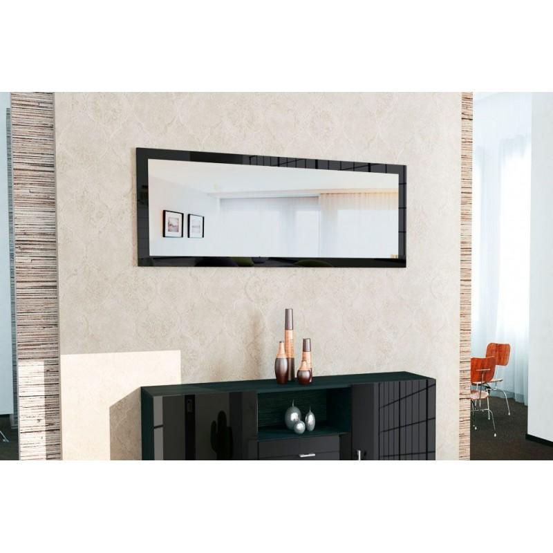 miroir pas cher laqu noir 139 cm pour miroirs design a 159 76. Black Bedroom Furniture Sets. Home Design Ideas