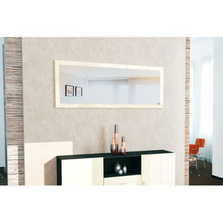 miroir laqu cr me 139 cm pour miroirs design a 159 76. Black Bedroom Furniture Sets. Home Design Ideas