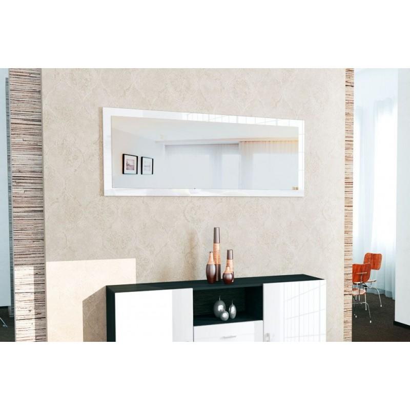 miroir laqu blanc 139 cm pour miroirs design a 159 76. Black Bedroom Furniture Sets. Home Design Ideas