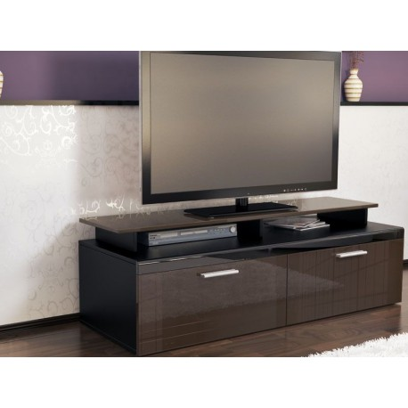 meuble tv noir et chocolat pas cher meubles discount en. Black Bedroom Furniture Sets. Home Design Ideas