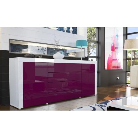 Buffet design laqu blanc violet pour buffets design a 492 26 - Meuble tv violet ...