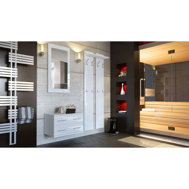meubles d 39 entr e design en blanc laqu e pour meubles d 39 entr e desig. Black Bedroom Furniture Sets. Home Design Ideas