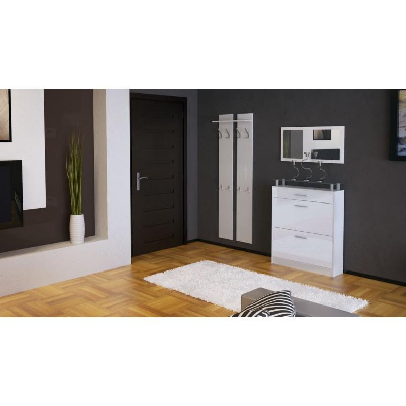 ensemble de hall d 39 entr e laqu blanc pour meubles d. Black Bedroom Furniture Sets. Home Design Ideas