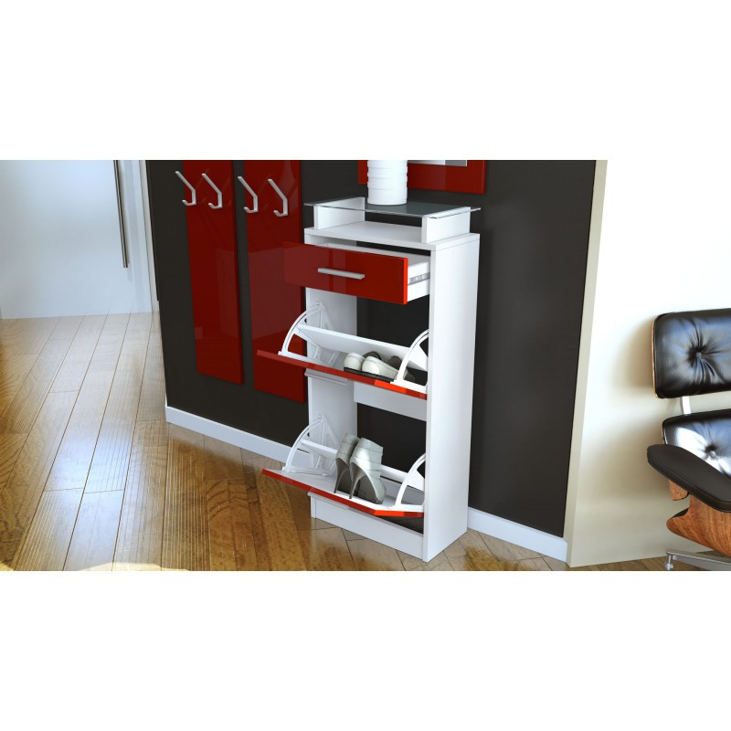 ensemble de hall d 39 entr e laqu design blanc et m re pour. Black Bedroom Furniture Sets. Home Design Ideas
