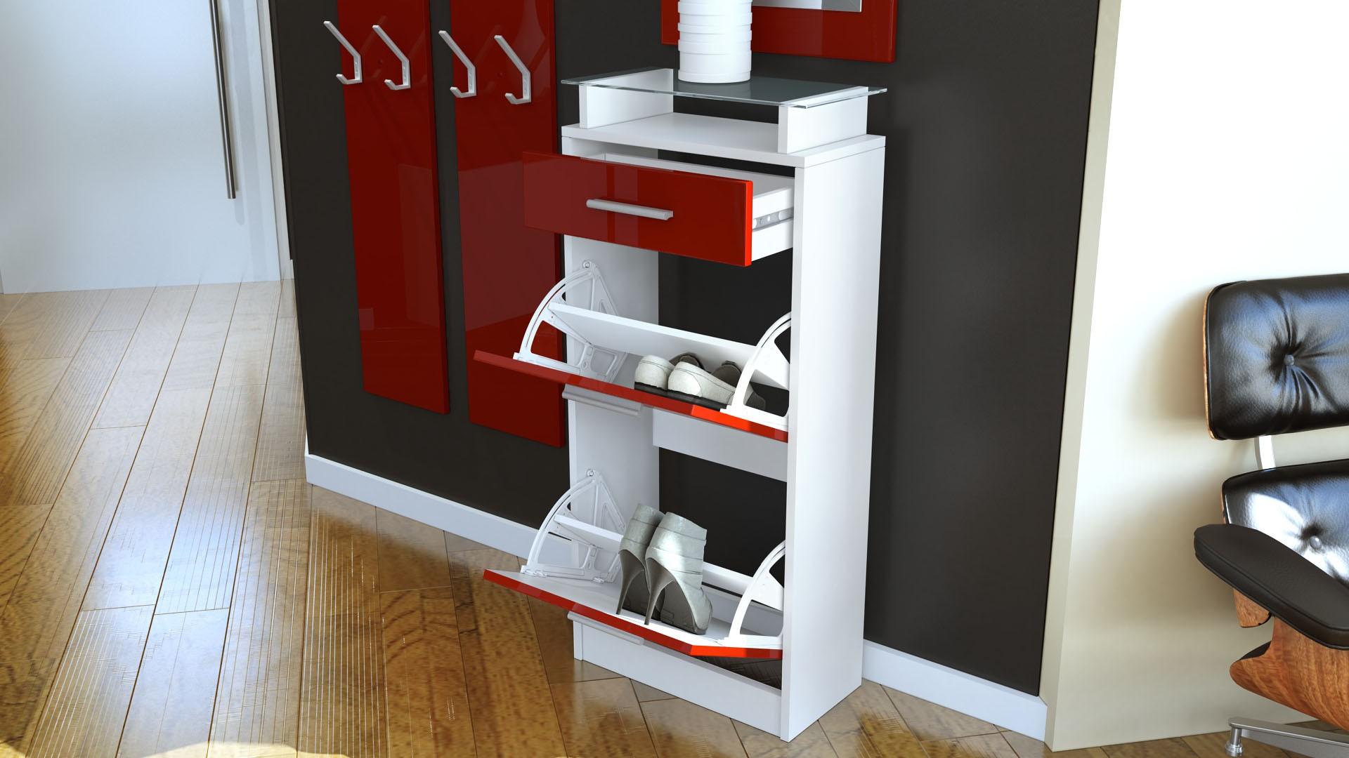 ensemble de hall d 39 entr e laqu design blanc et cr me pour meubles. Black Bedroom Furniture Sets. Home Design Ideas