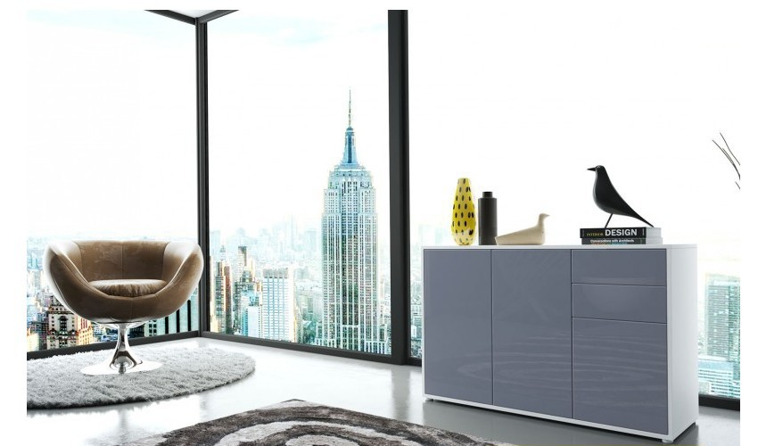 Meubles discount en ligne meubles discount en ligne - Commode grise laquee ...