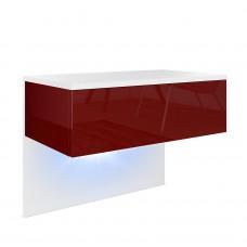 Table de chevet en Blanc mat et aspect Béton
