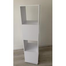 Colonne étagère rotative en blanc