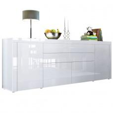 Buffet blanc intégralement laqué 200 cm